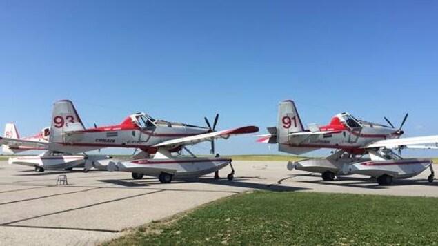 Des appareils amphibiens T802 Boss de l'Alberta.