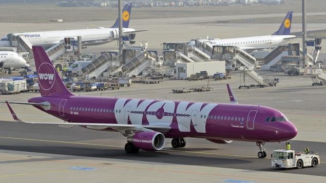 Un avion de la compagnie WOW Air