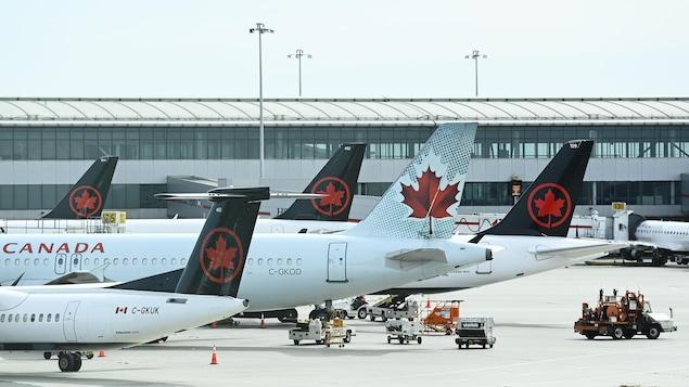 Des avions d'Air Canada.