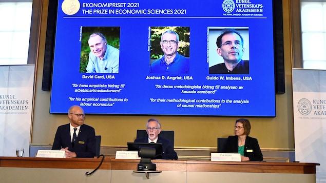 三位经济学家获得 2021 年诺贝尔经济学奖。