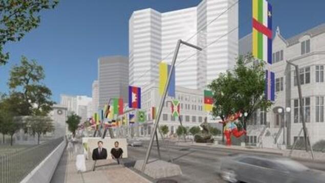 Une exposition d'art aura lieu sur 1 km de la rue Sherbrooke.