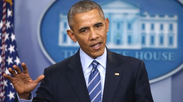 Le président Barack Obama en conférence de presse