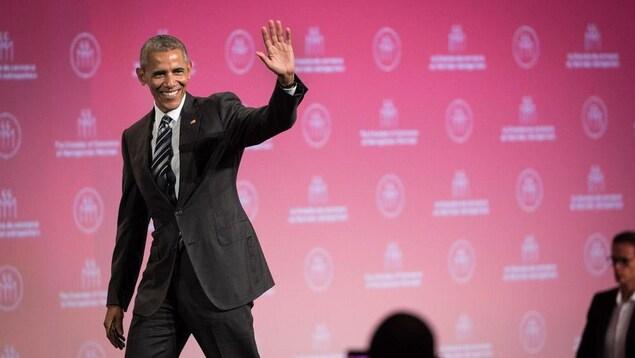 Barack Obama a offert une allocution à Montréal.