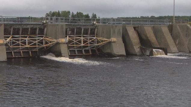 Le barrage de la rivière Tusket.