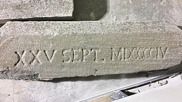 La date est gravée sur une pierre de la fondation.