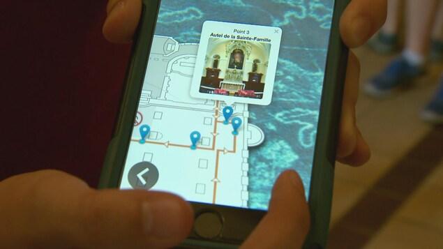 L'application pour visiter la basilique-cathédrale Notre-Dame-de-Québec