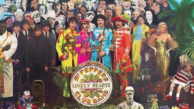 Détail de la pochette de l'album « Sgt. Pepper's Lonely Hearts Club Band », des Beatles, sorti en 1967