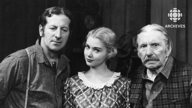 Les comédiens Jean-Pierre Masson, Andrée Champagne et Hector Charland.
