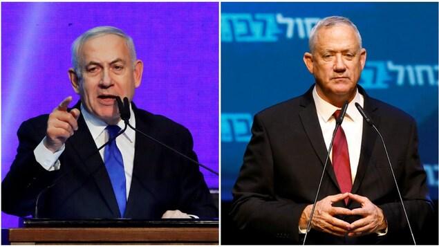 Deux politiciens s'adressent à leurs militants à la suite de l'élection israélienne.