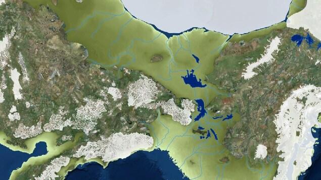 Carte de la Béringie.