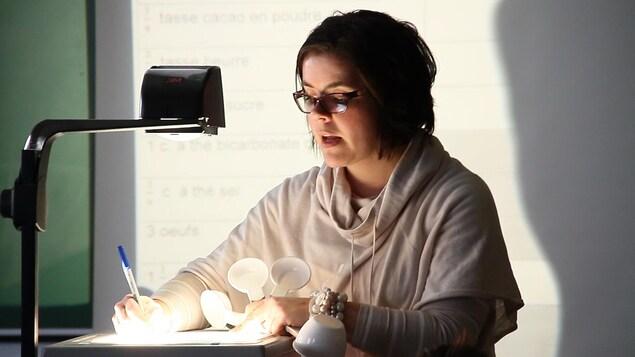 L'enseignante de mathématiques, Bianca Cliche
