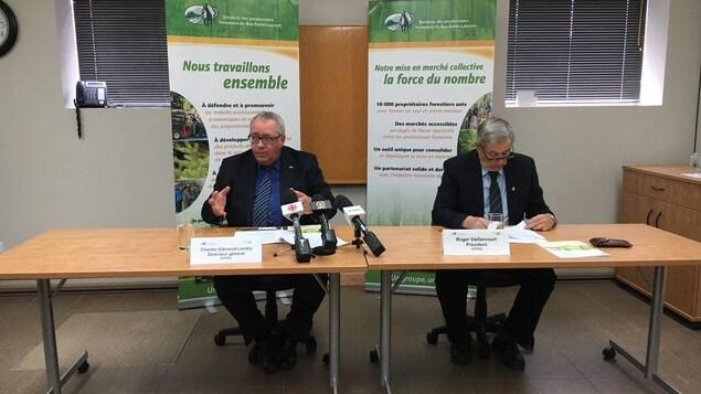 Le Syndicat des producteurs forestiers du Bas-Saint-Laurent a dévoilé jeudi son bilan pour l'année 2016.
