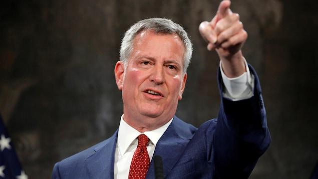 Le maire de New York Bill de Blasio