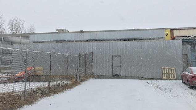 Une façade de l'entreprise Bitfarms, à Sherbrooke.