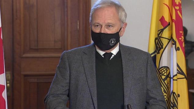 Le premier ministre Blaine Higgs, en janvier 2021.