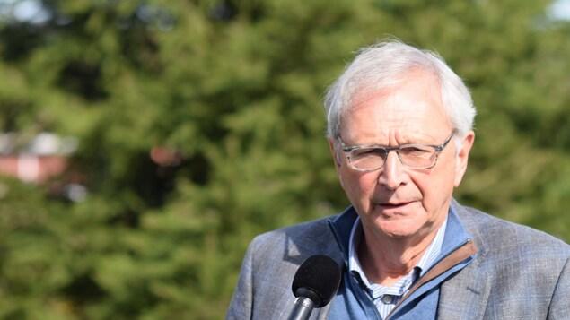 Blaine Higgs en point de presse mardi matin, après les élections du lundi 24 septembre au Nouveau-Brunswick.