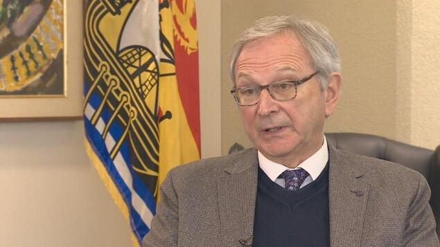 Blaine Higgs, premier ministre du Nouveau-Brunswick, en entrevue.