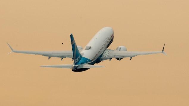 Un vol d'essai du 737 MAX, aux États-Unis.
