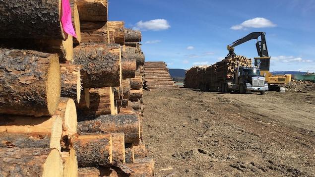 Un scierie à Mackenzie, en Colombie-Britannique