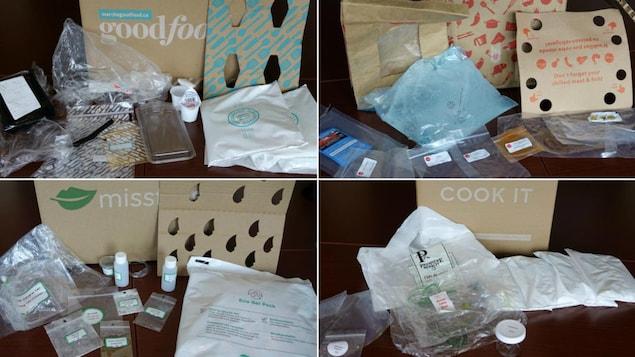 Des emballages cartons et plastiques pour le transport et la conservation d'aliments