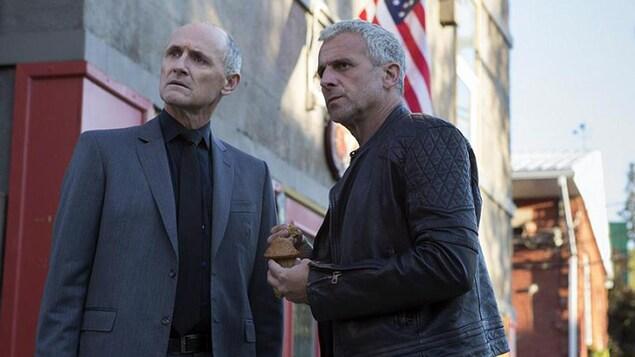 Patrick Huard et Colm Feore dans une scène de «Bon cop, bad cop 2»