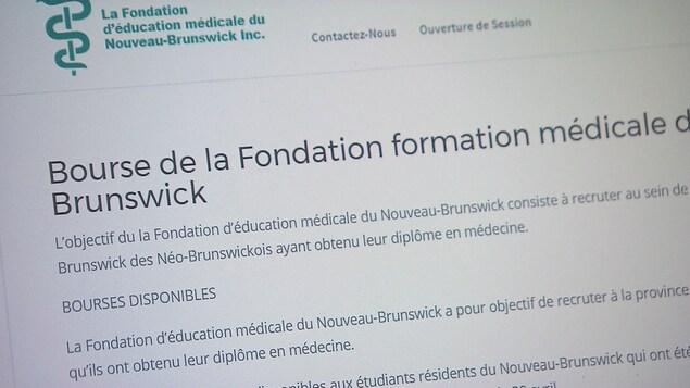 Jacob Michaud affirme que les étudiants anglophones sont favorisés lors de l'octroi de bourses par la Fondation d'éducation médicale du Nouveau-Brunswick.