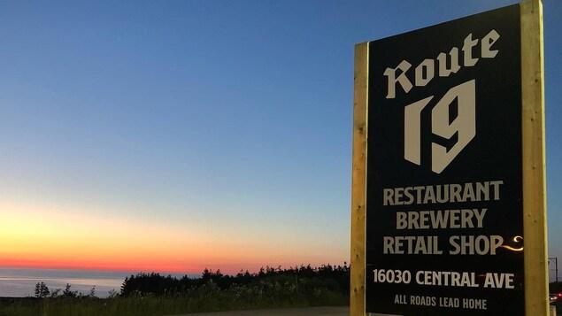 La brasserie Route 19, à Inverness, en Nouvelle-Écosse.