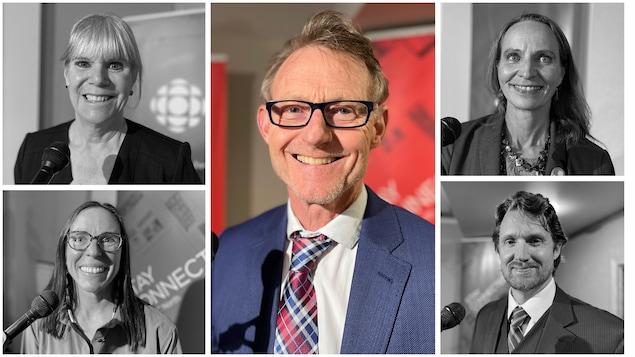 Un montage des 5 candidats