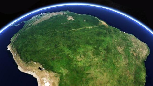 L'Amazonie vue de l'espace.