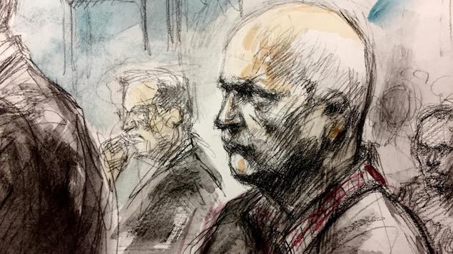 Un sketch de cour d'un homme