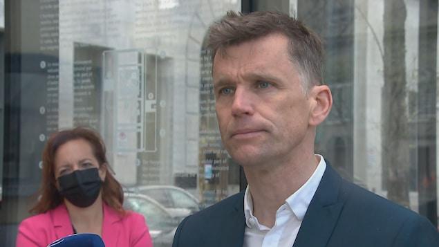 Bruno Marchand est candidat à la mairie de Québec.