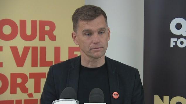 Bruno Marchand, candidat à la mairie de Québec.
