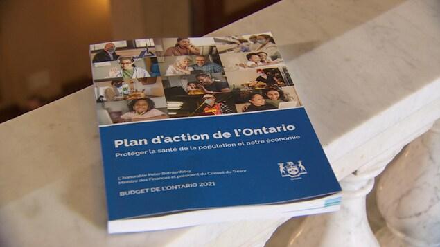 Le document du budget de l'Ontario 2021.