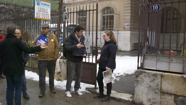 Bureau de vote à Genève.