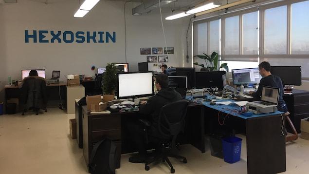Les bureaux de l'entreprise Carré Technologies, à Montréal