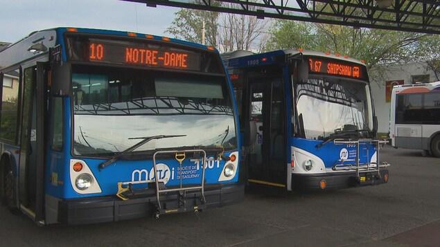 Des autobus de la STS.