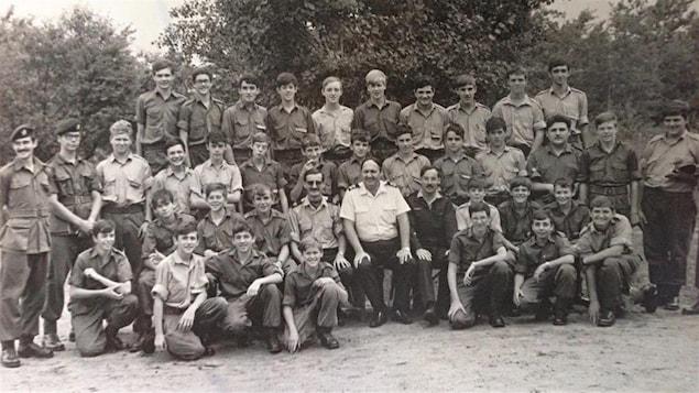 Les jeunes cadets touchés par l'explosion qui a fait six morts à la base de Valcartier en 1974.