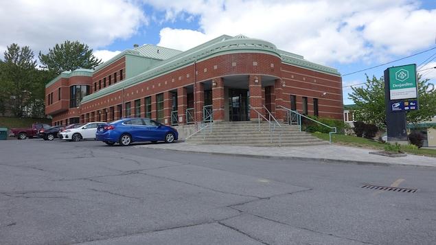 La succursale de la Caisse Desjardins au centre-ville de Gaspé