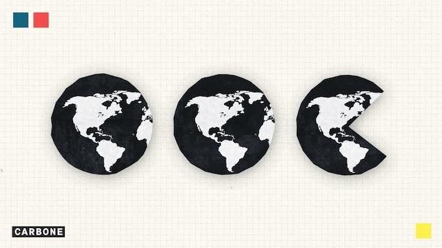 L'image montre des icônes de notre planète.