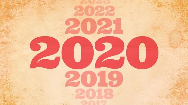 Plusieurs dates s'alignent les unes par-dessus les autres, de 2018 à 2022.