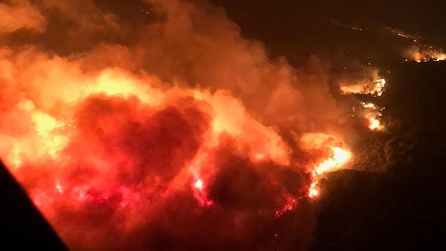 Les flammes ravagent la région de Napa, en Californie