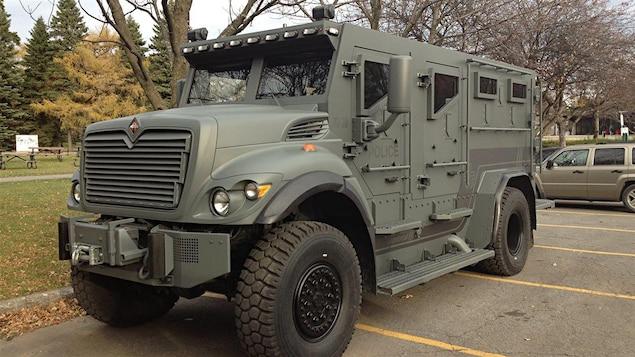 Le camion de protection balistique, acheté en 2013 par le SPVM.