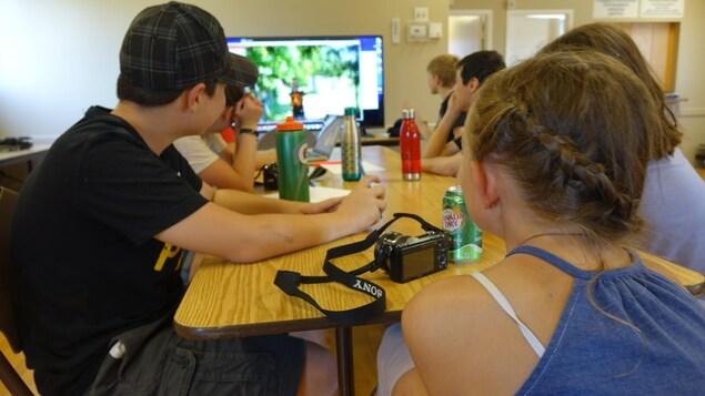 Le premier camp artistique du Festival du Loup a débuté lundi. Des ateliers de photo et vidéo et des arts du cirque sont donnés.