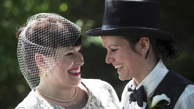 Portrait de mariage de Michelle et May Brand