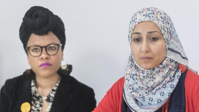 Marlihan Lopez et Safa Chebbi qualifient le projet de loi caquiste de « raciste ».