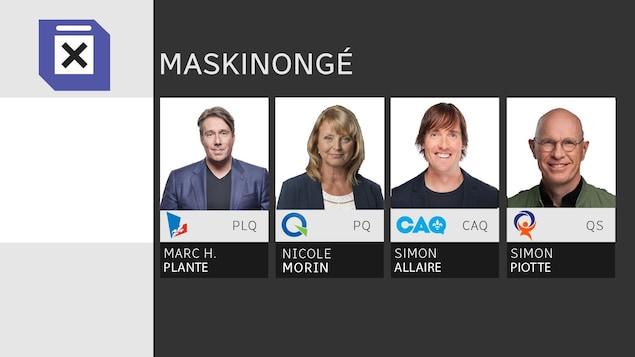 Les quatre candidats aux élections provinciales dans la circonscription de Maskinongé