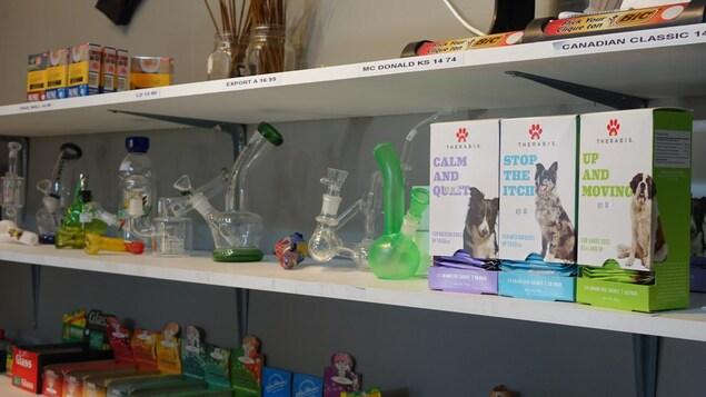 Le propriétaire du dispensaire de marijuana médicinale Mitsy's Budds dit vendre des milliers de sachets de cannabis pour chiens par semaine.
