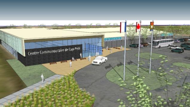 Schéma du futur bâtiment.