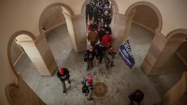 Des émeutiers pro-Trump.