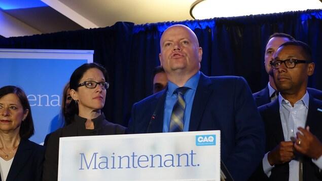 Le candidat de la CAQ Ian Lafrenière
